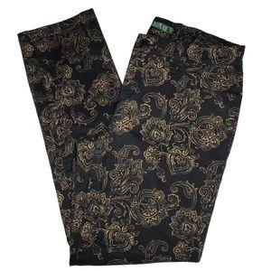 Lauren Ralph Lauren Black Jeans w/ Gold Pa…